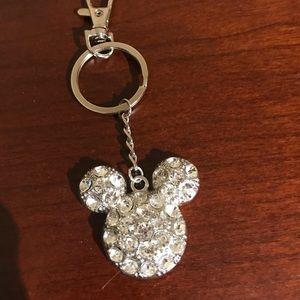 Mickey Rhinestone Keychain